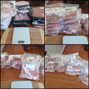 Prepping our meat!